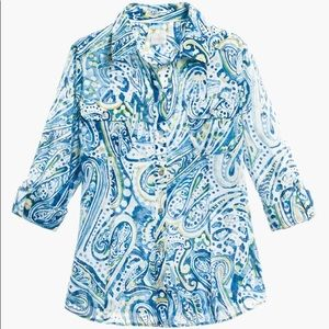 CHICO'S PAISLEY VOILE SHIRT